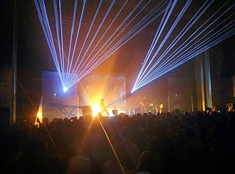 Ratatat - A laser light show as part of a live Ratatat performance in 2015.