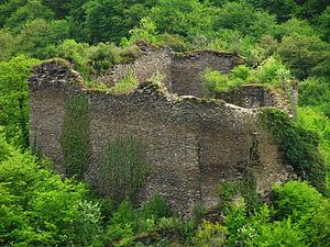 Die letzten Reste der Burg