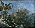 Ravitaillement de l Ile de Re par Claude de Razilly en 1627 by Claude Vignon 1642.jpg