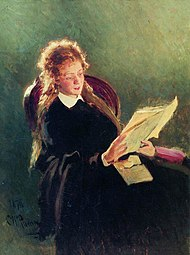 Reading girl by Repin.jpg