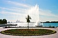 Reaume Park Coventry Gardens Peace Fountain In Windsor, Ontario With Distant Detroit Skyline Across River - photo by jodelli @ Flickr.jpg
