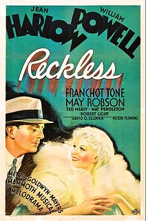 <i>Reckless</i> (1935 film) 1935 American musical film directed by Victor Fleming