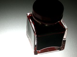 A jar of red ink