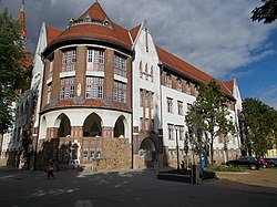 Reformed New College west corner, Kecskemét 2016 Hungary.jpg