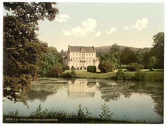 Reinhardsbrunn - Schloss Reinhardsbrunn in the late 19th century