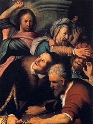 Rembrandt: Christ Driving the Money-changers from the Temple
