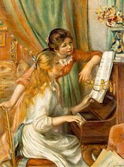 Girls at the Piano, 1892, by Pierre-Auguste Renoir,  Musée d'Orsay, Paris