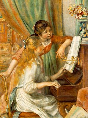 Pierre-Auguste Renoir: Girls at the Piano, 1892 - Musée d'Orsay, Paris