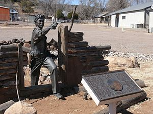 Reserve, New Mexico - Monument to Elfego Baca