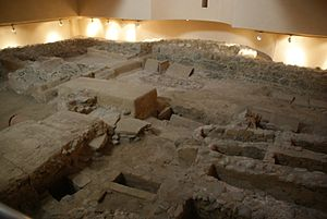 Abyla - Ruins of Paleochristian Roman basilica in current Ceuta