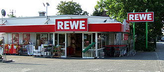REWE - A REWE supermarket in Laubenheim, Rheinland-Pfalz