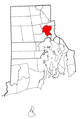 Rhode Island Municipalities Providence Highlighted.png