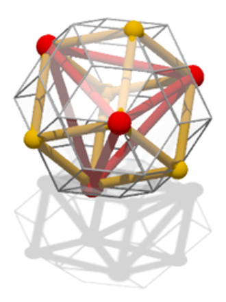 Inscribed figure - Image: Rhombic tricontahedron cube tetrahedron