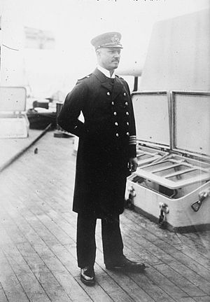 SMS Moltke - KzS Ernst Karl August Klemens Ritter von Mann Edler von Tiechler during the ship's visit to the U.S. in June 1912.