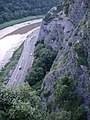 River Avon below cliffs above Clifton Suspension Bridge - geograph.org.uk - 633881.jpg