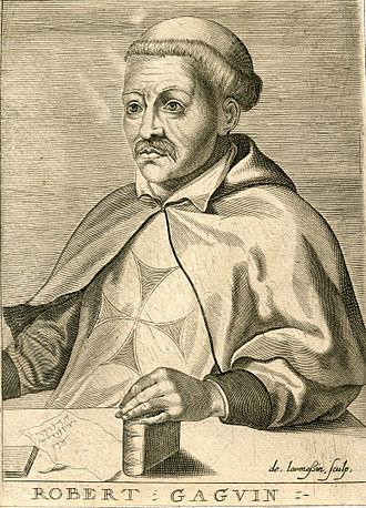 Robert Gaguin - Robert Gaguin; 18th century engraving by Nicolas III de Larmessin