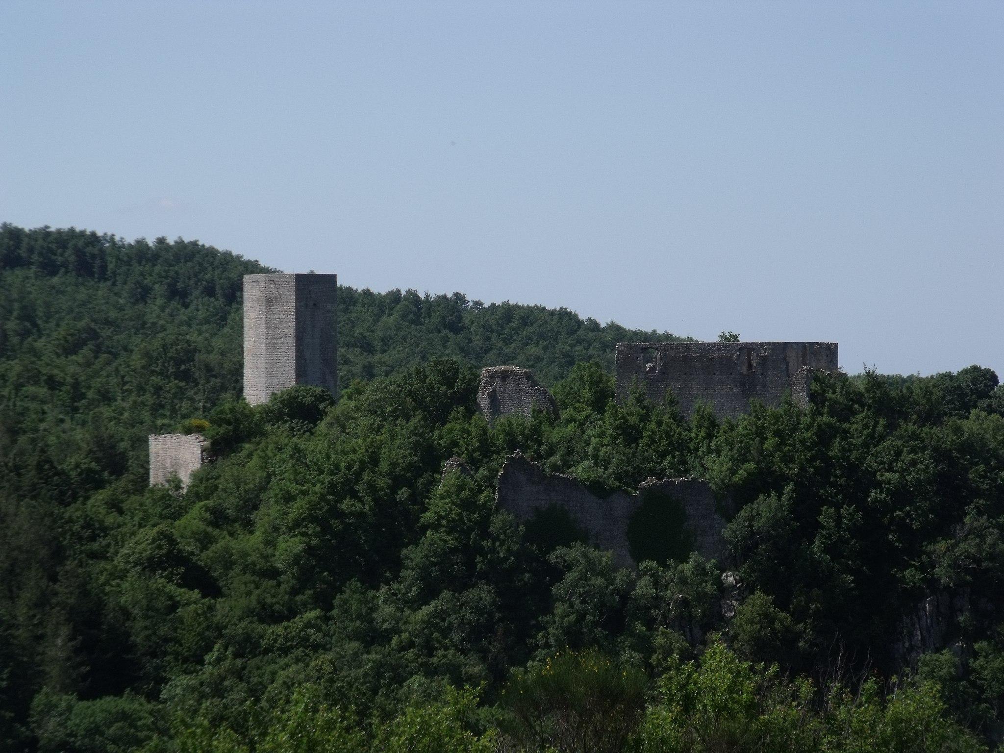 Castle Rocca Silvana near Selvena, Castell'Azzara, Monte Amiata Area