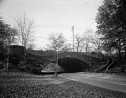 Rockefeller Park with its historic bridges form much of  Glenville's western border.