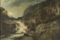 Rocky Landscape with Waterfall and Watermill, Småland (Edvard Bergh) - Nationalmuseum - 17941.tif