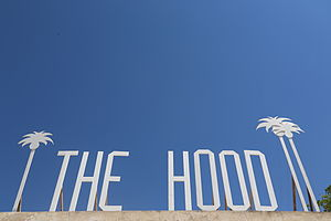 Djerbahood - THE HOOD letters at the entrance of Erriadh quarter