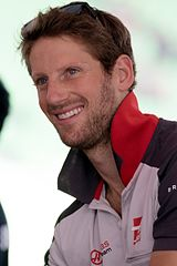 Romain Grosjean podczas Grand Prix Malezji (2016)