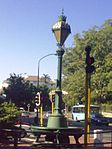 "On a traffic island where Belmont Road meets the main road in the centre of Rondebosch stands one of the best-known landmarks in that suburb. It is known as ""The Fountain"", but it is actually an ornamental trough for watering horses. It consists of a roun Type of site: Fountain. The"" Fountain ' a drinking-trough for horses, is an interesting curiosity and a well-known landmark in Rondebosch dating back to 1891."