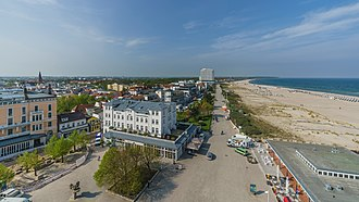 Esplanade - Beach promenade in Rostock, Germany