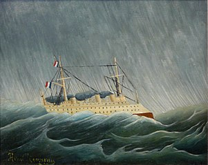 El vaixell en la tempesta