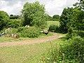 Route of footpath through farmyard - geograph.org.uk - 888193.jpg