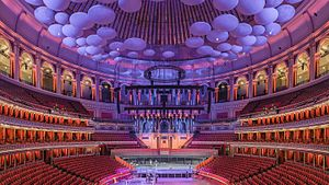 Interiören av Royal Albert Hall.