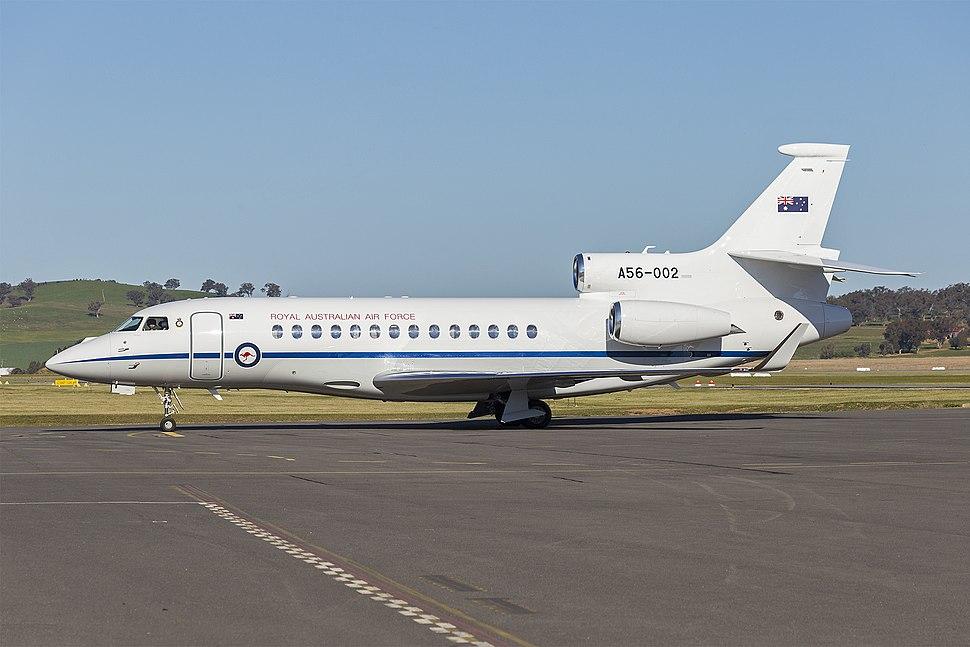 Royal Australian Air Force (A56-002) Dassault Falcon 7X at Wagga Wagga Airport (2)