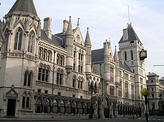 High Court of Justice - Royal Courts of Justice on the Strand in the City of Westminster