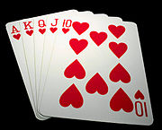 Poker-Karten (Royal Flush)