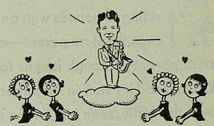 Teen idol - 1930 caricature of Rudy Vallée