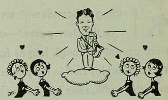 Teen idol - 1930 caricature of Rudy Vallée