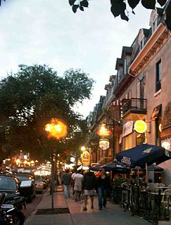 Saint Denis Street thoroughfare in Montreal, Canada