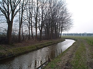 Heers, Netherlands - The stream Run near the Heerseweg