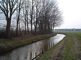Heers, Netherlands - The stream Run near the Heerseweg