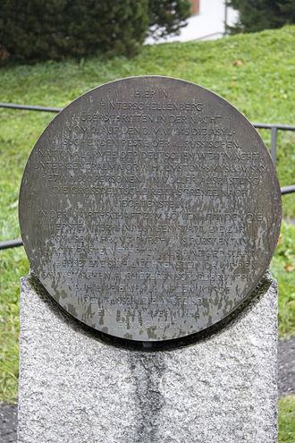 Hinterschellenberg - Russian Monument Liechtenstein