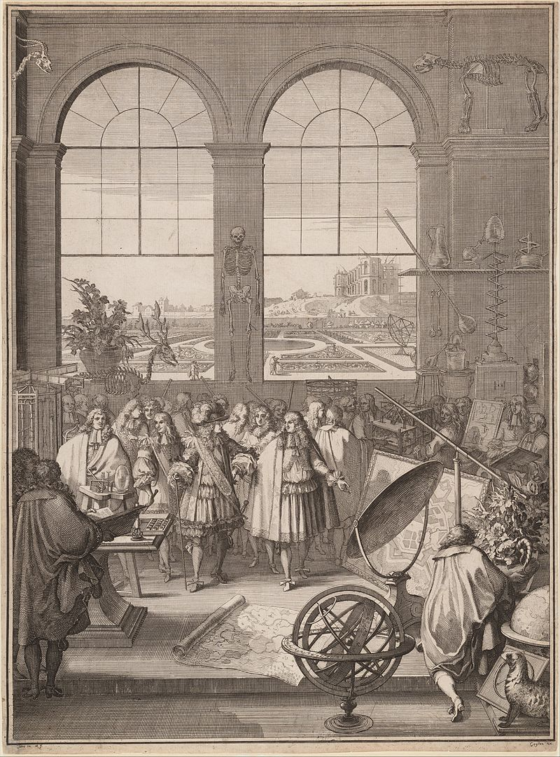 S%C3%A9bastien Leclerc I, Louis XIV Visiting the Royal Academy of Sciences, 1671.jpg