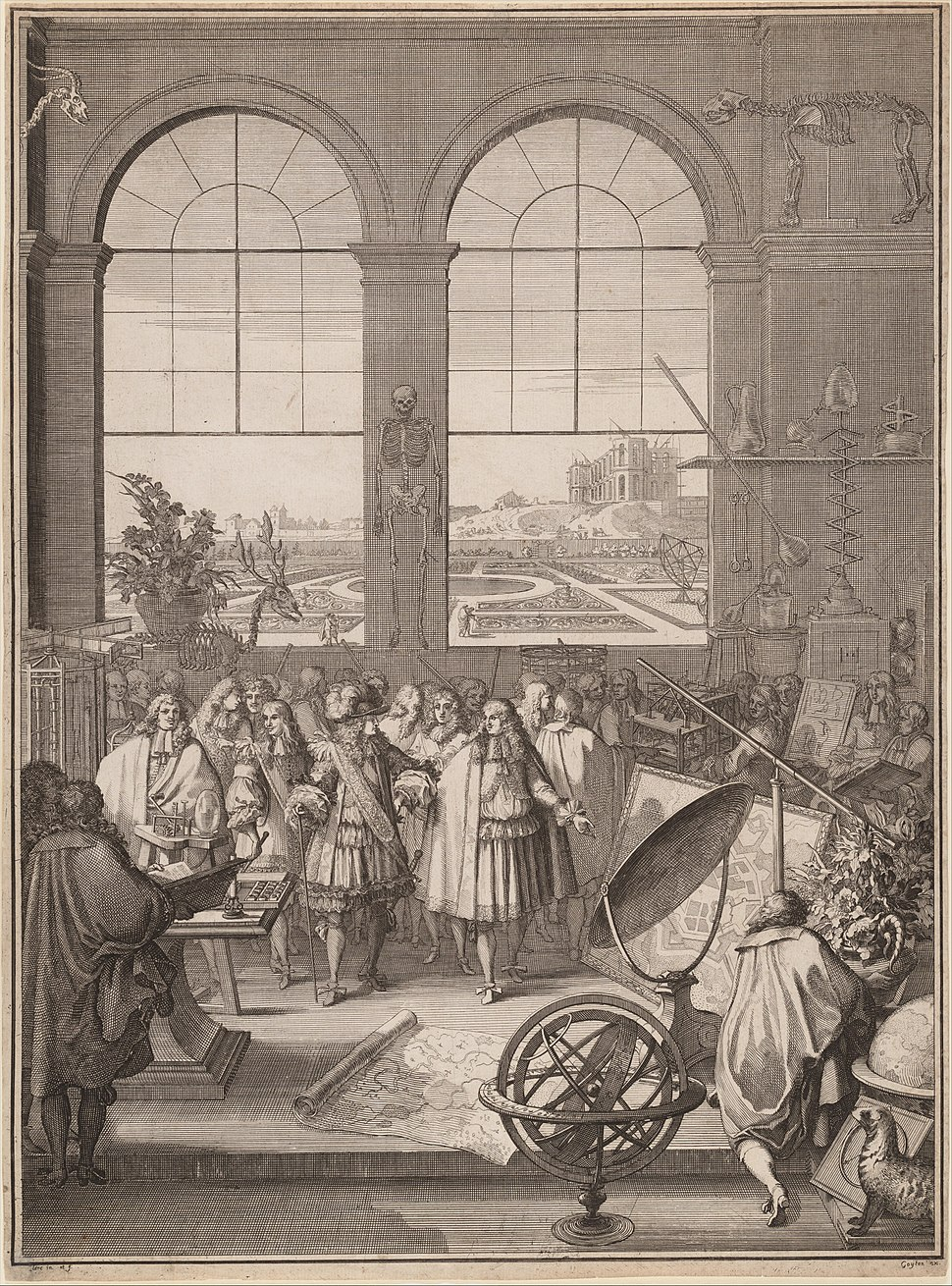 S%C3%A9bastien Leclerc I, Louis XIV Visiting the Royal Academy of Sciences, 1671