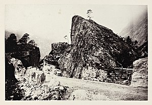 Romsdalen - Road through boulder landscape. photo: Edward Backhouse Mounsey, 1869