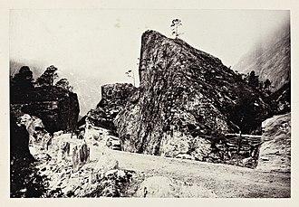 Romsdalen - Road through boulder landscape. photo: Edward Backhouse Mounsey, 1869