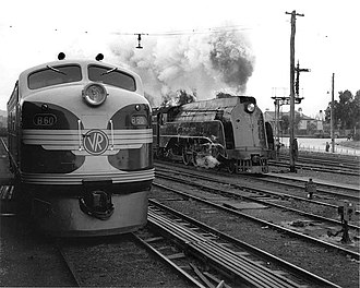 Victorian Railways S class - S302 at Seymour in July 1952 as B60 completes its delivery run to Melbourne