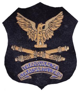 Transvaalse Staatsartillerie - SADF era Transvaal Staatsartillerie patch badge
