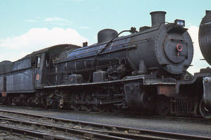 South African Class 14B 4-8-2 - Class 14R no. 1756, 23 March 1979