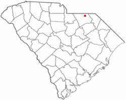 Location of Chesterfield, South Carolina