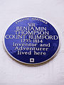 SIR BENJAMIN THOMPSON COUNT RUMFORD - 168 Brompton Road, Knightsbridge, London SW3 1HW, Royal Borough of Kensington and Chelsea (2).JPG