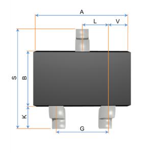 Small-outline transistor - Image: SOT 23,346,323,416 OKÓTOVANý NáRYS K NAHRáTí