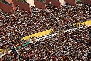 Sardar Vallabhbhai Patel Stadium, Ahmedabad - 50,000 Spectators attended the Swarnim Guajarat celebrations at Sardar Patel Stadium in Ahmedabad